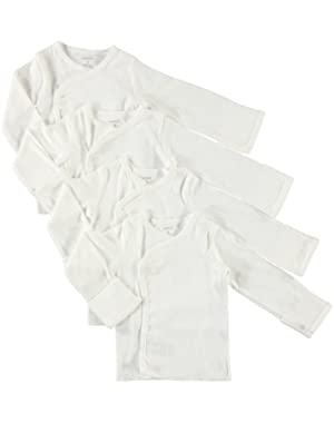 Carter's Infant Side Snap Flap Mittten Long Sleeve Layette Shirt- Newborn