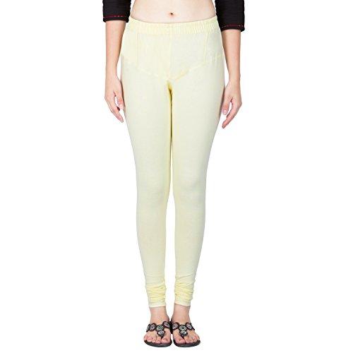 Sarjana Handicrafts Women Cotton Churidar Leggings Authentic Casual Pants (Off White)