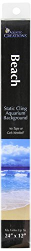 SPORN Aquarium Background, Static Cling, Beach 24