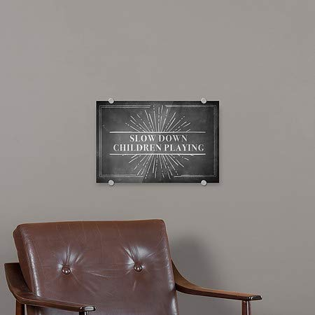 Chalk Burst Premium Brushed Aluminum Sign 5-Pack Slow Down Children Playing 27x18 CGSignLab
