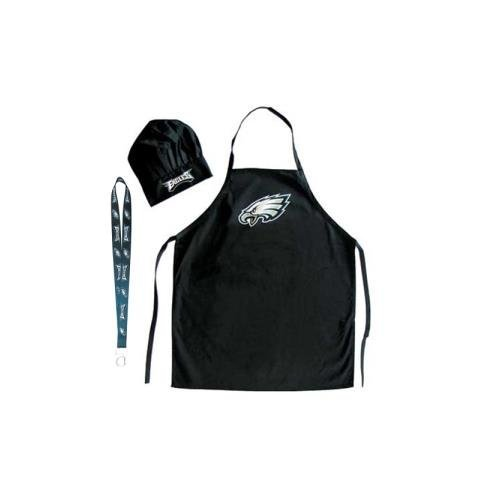 Pro Specialties Group Philadelphia Eagles NFL Barbeque Apron and Chef's Hat with Bottle Opener
