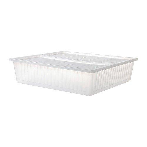 IKEA Gimse - caja de almacenamiento de cama, blanco - 65x70 cm: Amazon.es: Hogar