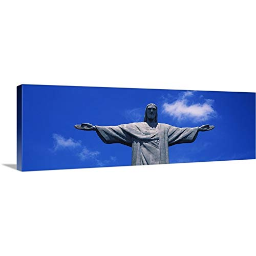 GREATBIGCANVAS Gallery-Wrapped Canvas Entitled Low Angle View of The Christ The Redeemer Statue, Corcovado, Rio de Janeiro, Brazil by 60