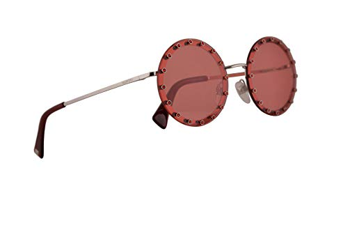 Valentino VA 2010B Sunglasses Silver w/Light Red Lens 52mm 300684 VA2010-B VA2010B VA 2010-B ()