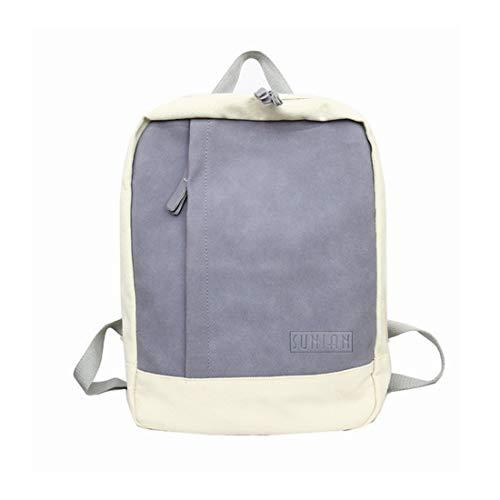 Campus Waveni Casual Zaino Zipper Bag School SchoolbagcoloreMarroneBlu Ragazze Art Bag Canvas Shoulder rxeCBdo