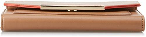 GAUDÌ Damen Benny Handtasche, 3x15x22 cm Beige (Caramel/Orange)