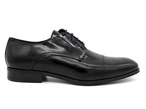 Lisa Zapatos Schwarz Piel 9957 Para Marttely De Negro Cordones Hombre 1fpTxw6vqn