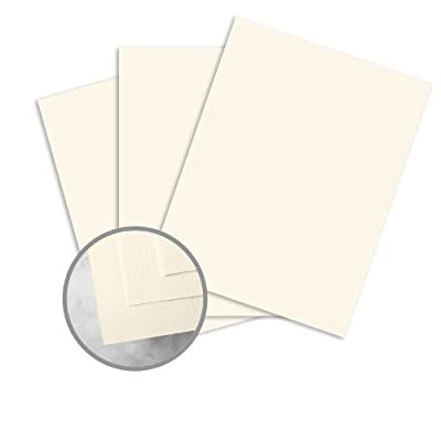 HOWARD Linen Warm White Paper - 8 1/2 x 11 in 70 lb Text Linen 30% Recycled 500 per Ream