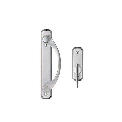 Andersen® Newbury 2-panel Gliding Door Hardware Set in Satin Nickel