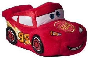 Boy Size 9-10 Disney Pixar Cars Lightvear Red Socktop Slippers Soft Shoes Great for Halloween Costume