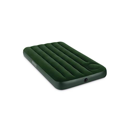 Intex Downy Airbed with Built-in Foot Pump, Twin]()