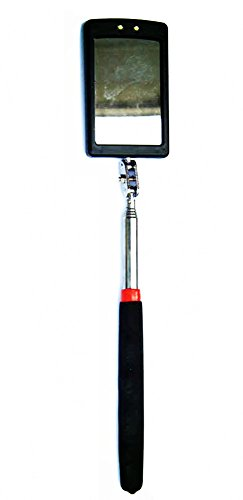 Telescoping LED Lighted Flexible Inspection Mirror 360 Swivel for Extra Viewing (Mirror Inspection Tool)