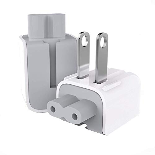 AC Power Adapter US Wall Folding Plug Duck Head (2 Pack), SEOYO Charge Adapter US Standard Plug Duck Head for MacBook Pro/MacBook Air/Mac iBook/iPhone/iPod/etc.(White) (Upgrade)