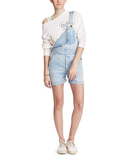 (Ralph Lauren Denim & Supply Women's Cotton Denim Overalls Navy Large )