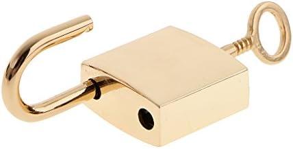 3 X Peque/ño Candado Cuadrado De Metal Mini Cerraduras De Caja Peque/ña Con Teclas Doradas