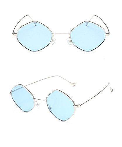 Moda Redondas de Las X160 A la de Gafas sol señoras Coreanas de Gafas Personalidad Elegantes Color de Gafas C sol 8qwf7z