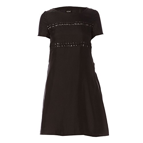 40 Unifarben KOOKAI Kleid Schwarz Dress Damen Farbe Seide Größe wYIanI7xHq