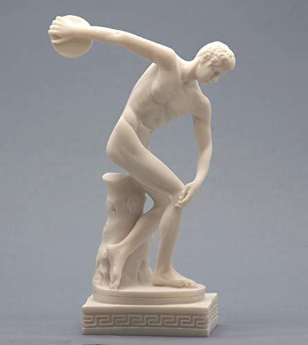 Discobolus Discus Thrower Nude Male Athlete Greek Roman Statue Sculpture ()