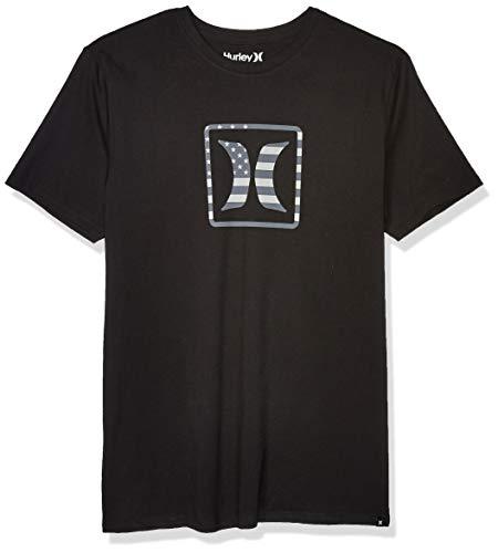 Hurley Men's Premium Block USA Short Sleeve Tee, Black, Large from Hurley