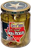 Talk O' Texas Crisp HOT Okra Pickles - 16 oz Glass Jar