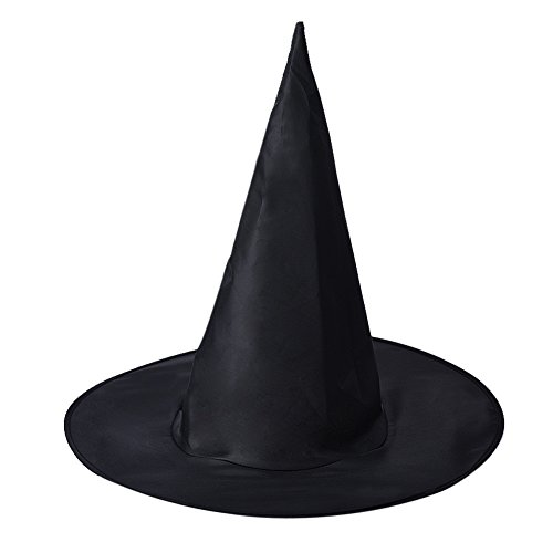 Wensltd 5Pcs Adult Womens Black Witch Hat For Halloween Costume Accessory