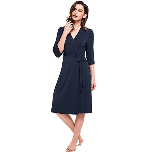 Sweetnight Womens Cotton Robe Soft Kimono Robes Knit Bathrobe Comfort  Sleepwear Loungewear Long new 3a1fdb591