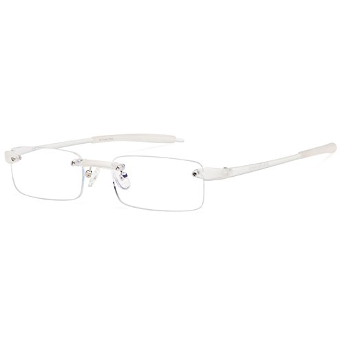 ALTEC VISION Best Rimless Readers Super Lightweight Reading Glasses with Case for Men and Women - - Rimless For Glasses Men