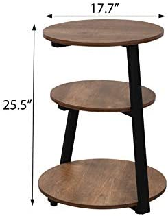 Firlar Round End Table - the best living room table for the money