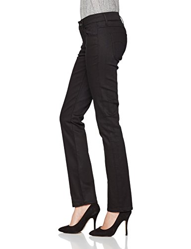G-STAR RAW 3301 Deconst Mid Straight, Pantalones Vaqueros Rectos para Mujer Negro (Raw Denim 001)