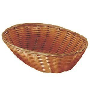 Set of 4 Update International BB-97 Woven and Bread Natural Color Basket, Oval, 9-1/2-Inch Woven Serving Baskets