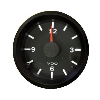 """12 volt Digital Clock 52mm 2 1//16/"""" Blue LCD Clock"""