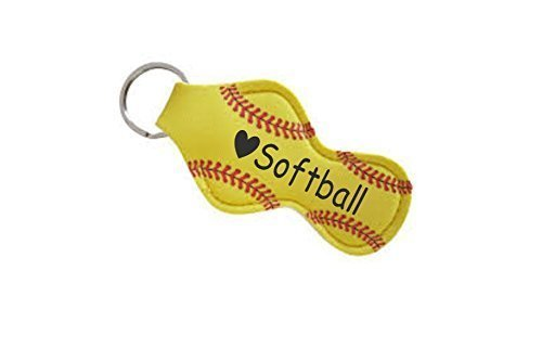 Softball Team Gifts for Girls Teens Players Mom Coaches Lip Balm Holder - Set of 6
