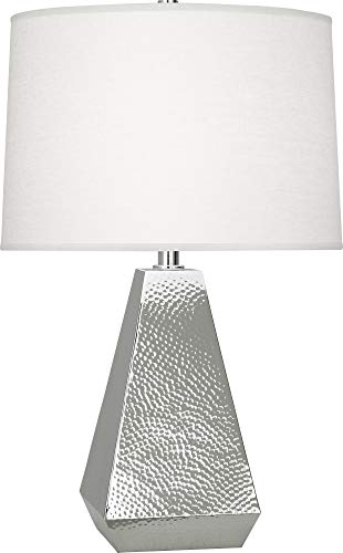 - Robert Abbey Dal Polished Nickel Tapered Table Lamp