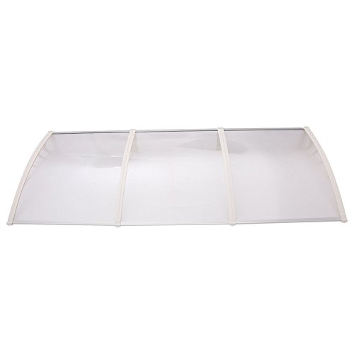Edxtech Window Door Awning Sun Shade Canopy Hollow Sheet UV Rain Snow Protection DIY (Patio Aluminum Panels Roofing)