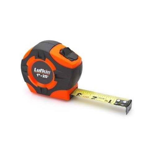 Lufkin PHV1425D Power Return Engineer's Tape, 1-Inch by 25-Feet, Hi-Viz (25' Power Return Tape)