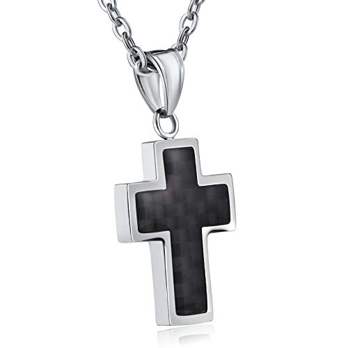 Beydodo Stainless Steel Pendant for Women Cross Silver Wedding Necklaces for Women ()