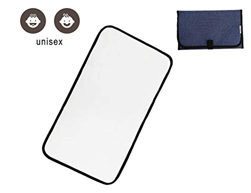 Travel Changing Pad, Portable Changing Pad,Diaper Changing Pad for Baby Waterproof and Lightweight,Blue