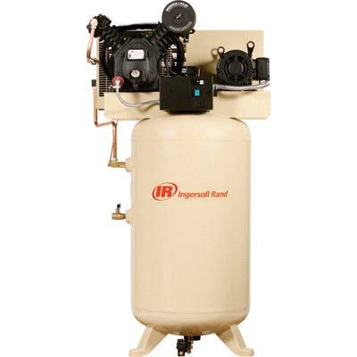 - Ingersoll Rand Type-30 Reciprocating Air Compressor (Fully Packaged) - 7.5 HP, 200 Volt 3 Phase, Model# 2475N7.5-P