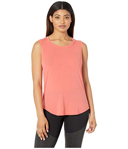 Face Sleeveless - The North Face Women's Workout Muscle Tank Top Spiced Coral Large
