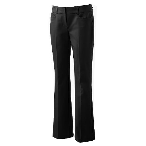Elle Curvy Fit Straight Leg Pants At Amazon Womens Clothing Store