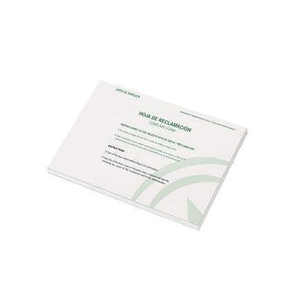 LIBRO LIDERPAPEL HOJAS DE RECLAMACIONES JUNTA DE ANDALUCIA DIN A4 25 JUEGOS ORIGINAL + 2 COPIAS 40 Unidades