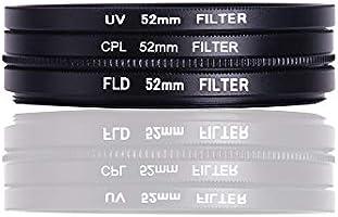 Aoile UV + CPL + FLD - Juego de filtros para cámara réflex: Amazon ...