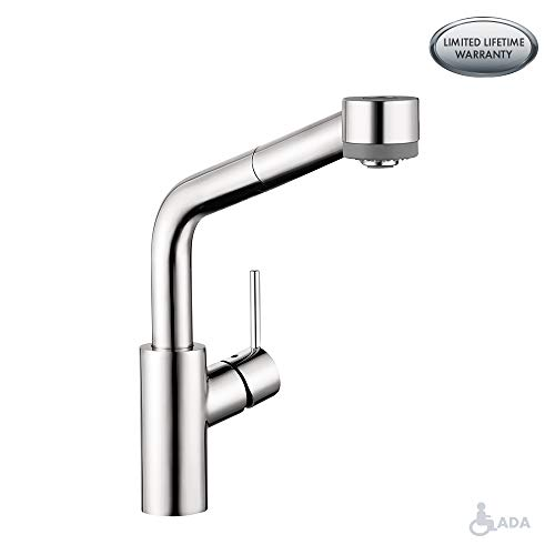 hansgrohe Talis S Premium 1-Handle 13-inch Tall Kitchen Faucet with Pull Down Sprayer in Chrome, -
