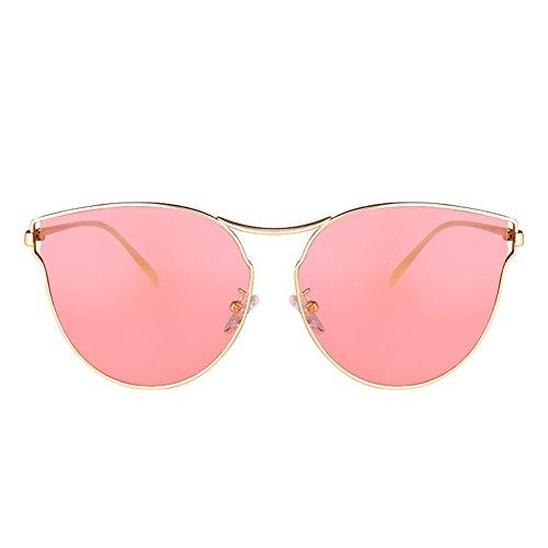 Sol de Gafas para Transparentes Color Retro 1 Mujer Color Rosa de Sol de Mujeres 2 de DT UV Gafas Gafas Protección de Sol Zd6qqRn