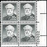 General Robert E Lee - Confederate Army #1049 Plate Block of 4 x 30¢ US Postage -