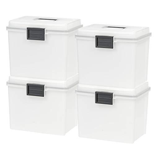 (IRIS USA, Inc. UCB-HFB Letter Size Portable Weathertight File Box, Pearl)