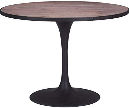 Zuo Modern Modern Desk (Zuo Modern 100438 Scotts Bluff Dining Table, Bold Design, Classic Tulip Style, Metal Base, 42.5