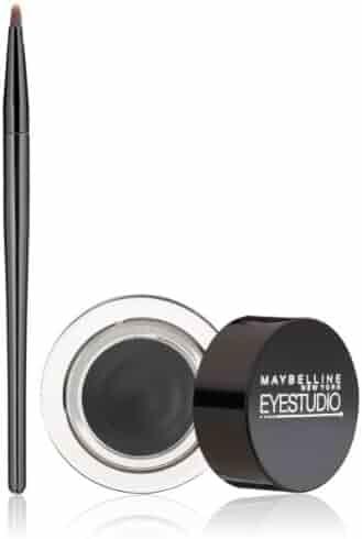 Maybelline New York Eye Studio Lasting Drama Gel Eyeliner, Blackest Black, 0.106 oz.