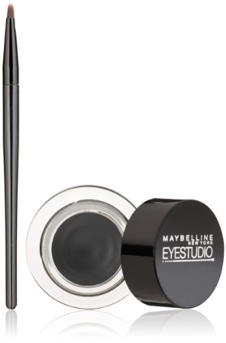 Maybelline New York Eye Studio Lasting Drama Gel Eyeliner, Blackest Black 950, 0.106 oz.