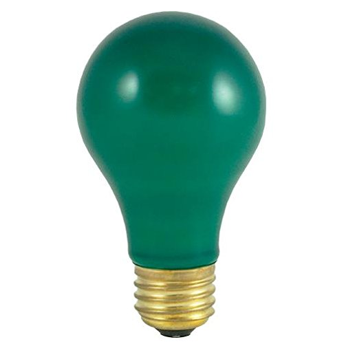 (Bulbrite 40A/CG 40-Watt Incandescent Standard A19, Medium Base, Ceramic Green)